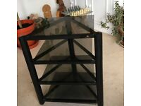 A Soundstyle 4 shelf hifi stand with glass shelves -excellent condition