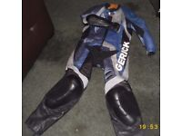 Hein Gerickle Motorbike Leathers - One piece and Motorbike boots