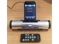 Azatom iFlute docking speaking silver iPod or iPhone (iPod not included!) with remote