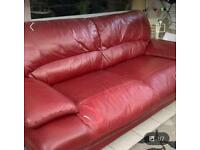 Free Red leather sofa (can be covered)