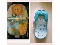 Bright start jubilant bouncer and summer baby bath aid