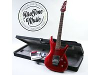 Ibanez JS24P Joe Satriani Candy Apple Red & Ibanez Case & Tags