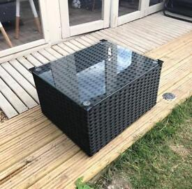 Rattan effect side table - BRAND NEW