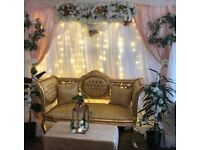 Asian wedding decorations setup