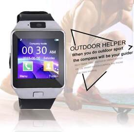 Silver and grey Bluetooth smart watch for android and iPhone brand new in box