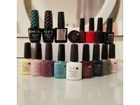 Set of Used Gel Nail Polishes