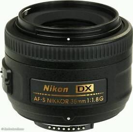 NIKON DX 35mm AF-S f1.8 swap for zoom.
