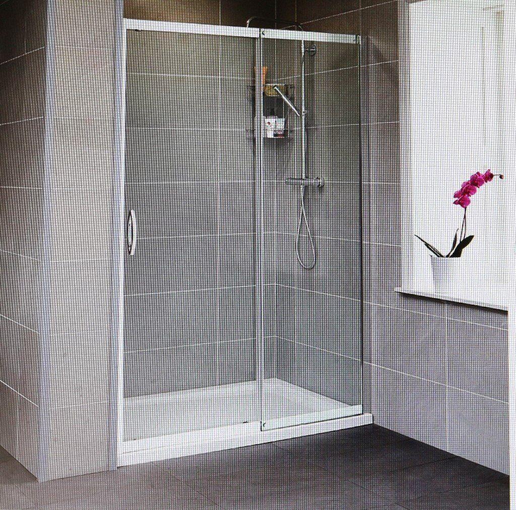 Aquafloe Iris 1200 Mm Sliding Shower Doors 8mm Thick Glass In