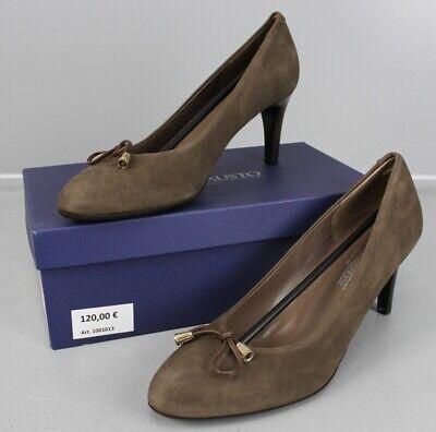 Moda Di Fausto Pumps braun Gr. 42 High Heels Vitello Bogota Moro...