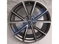 V25* 4X NEW ALLOY WHEELS 19 INCH ALLOYS VW VOLKSWAGEN GOLF CADDY SCIROCCO GTD GTI R GREY