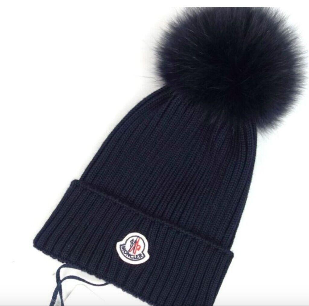 Moncler navy beanie unisex hat gloves jacket sweater jumper vest scarf  ralph lauren superdry armani a9eb22653d5
