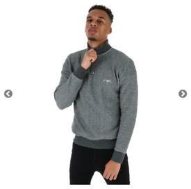 Men's emporio Armani half zip grey sweatshirt size medium