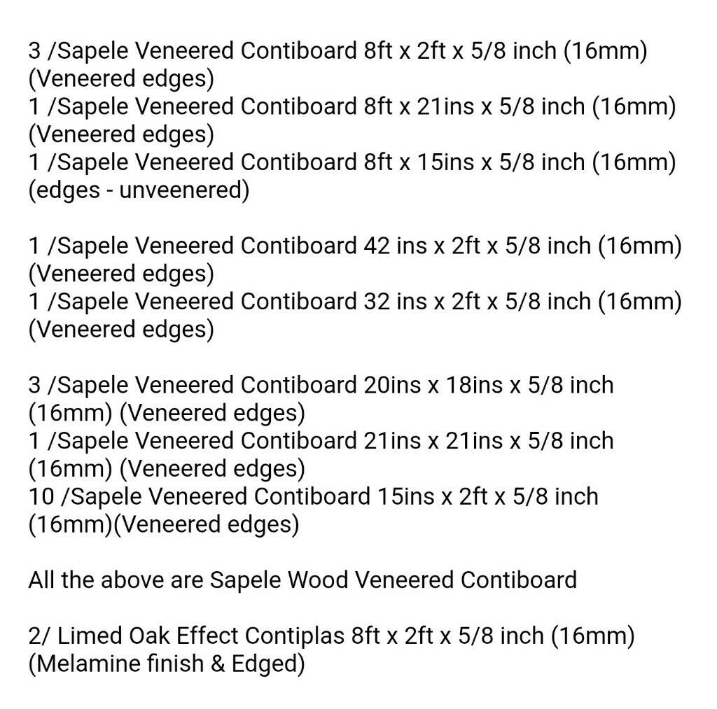 Contiboard And Contiplas Boards Excellent Condition In