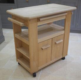 Catskill Craftsmen butchers block kitchen trolley