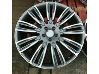 Evoque Discovery Sport Velar x4 AB Velar 9012 Style Alloy Wheels GM Polish 5x108