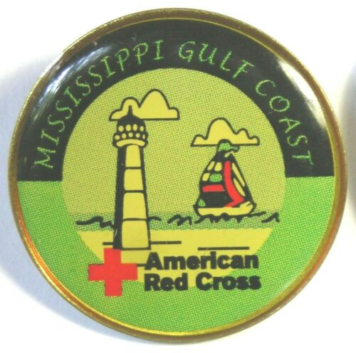 MISSISSIPPI GULF COAST CHAPTER AMERICAN RED CROSS PIN Prior to HURRICANE KATRINA