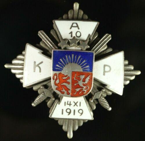 RARE Orig. Latvia 1920-s 10th Aizpute Infantry Regiment Breast Badge