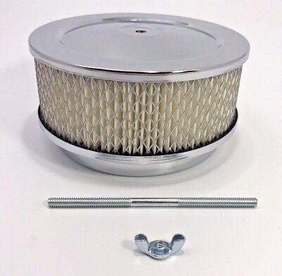 "Bbl Barrel - Chrome Air Cleaner Assembly 4 bbl Barrel Carburetor Hot Rod 5 1/8"" Opening"