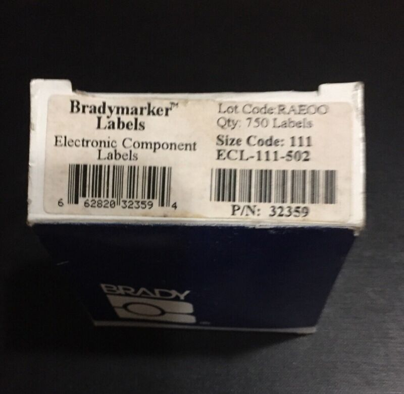 Brady Electronic Component Labels ECL-111-502 P/N 32359