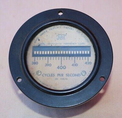 Vintage Jbt Model 36-fx-21-115 Frequency Meter Cycles Per Seconds
