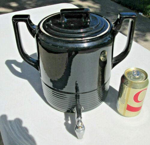 HALL CHINA Drip-O-lator URN COFFEE DISPENSER, BLACK, METAL SPIGOT, NICE & CLEAN!