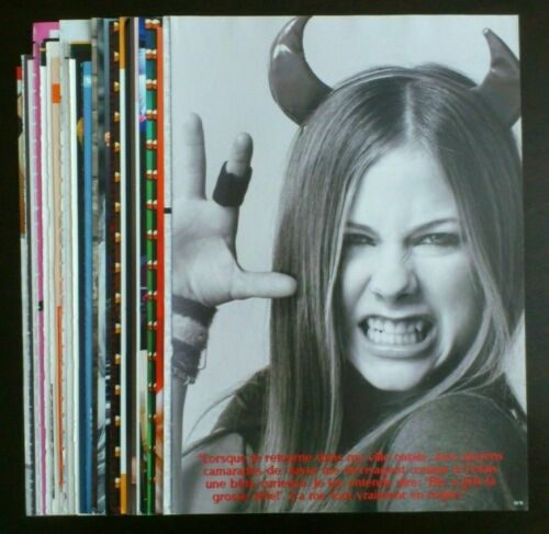 Avril Lavigne poster articles clippings lot collection set #1