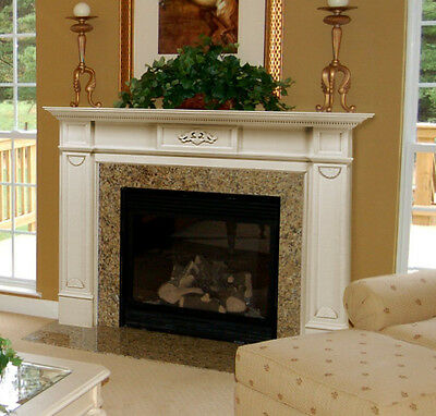Pearl Mantels 530-48 Monticello Fireplace Mantel, White, 48-Inch New