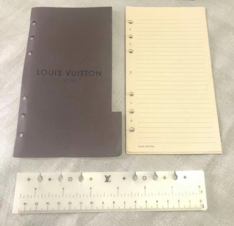 Authentic Louis Vuitton Agenda MM Inserts And Ruler