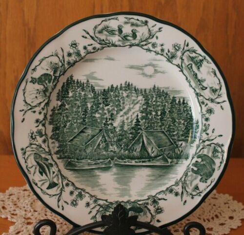 "International ~ Bob Timberlake Camp 7"" Salad Plate ~ Camp Site ~Dishes Tableware"