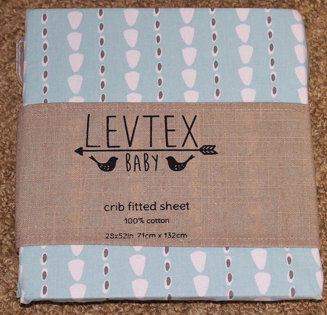 Levtex CONE STRIPE Fitted Crib or Toddler Bed Sheet  Unisex