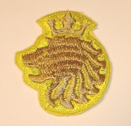 Vintage NOS Falstaff Beer Lion Head Crown Logo Embroidered Patch (New Old Stock)