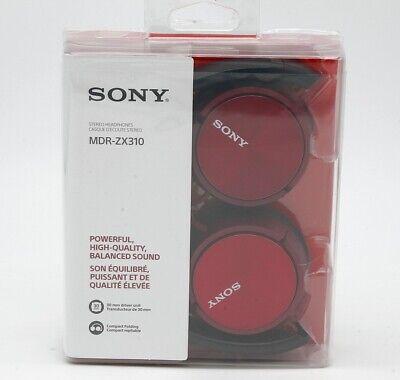 Sony MDR-ZX310R Auriculares de diadema cerrados sin microfono rojo