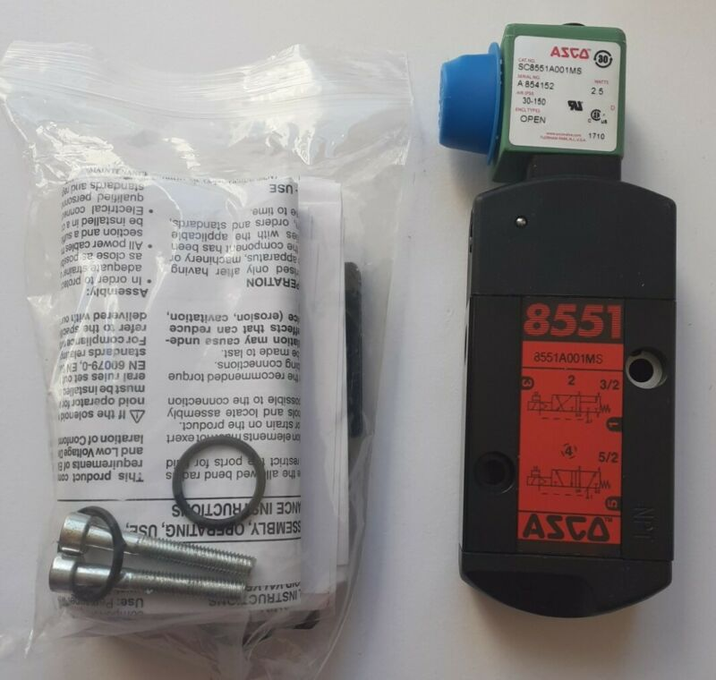 ASCO SC8551A001MS 30-150 PSI ENC. OPEN 120/50-60  8551A001MS -NEW, 30 DAY WTY