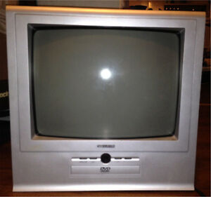 Curtis color tv with attached dvd player (at bottom)