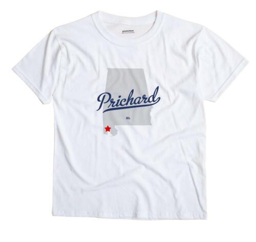 Prichard Alabama: Prichard Alabama AL Ala T-Shirt MAP