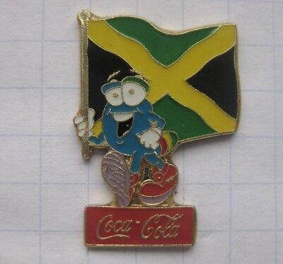 COCA-COLA / ATLANTA 1996 / IZZY / JAMAIKA  FAHNE.... Sport Pin (110k)