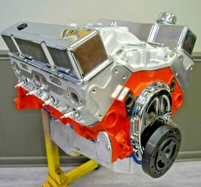 - 383 Small Block Chevy Stroker Crate Engine Alum heads 450HP/450TQ READY TO SHIP