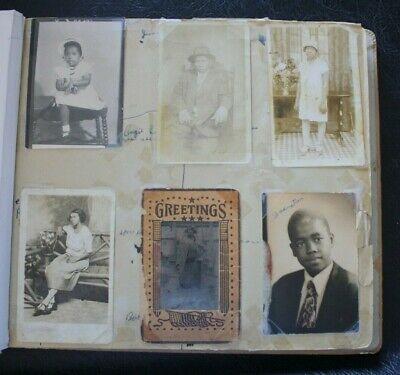 VTG 290+ PHOTO Album Scrapbook Black African American Family 1910's To 1970's
