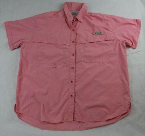 Womens Columbia Vented Shirt Adult Pink PFG Outdoors Camp Casual Fishing UPF 30+