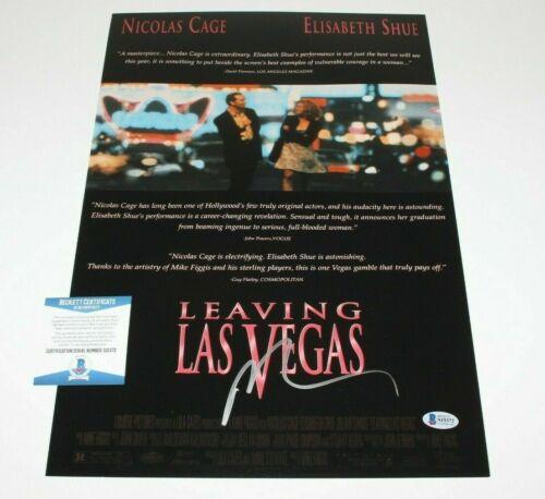 Actor Nicolas Cage - LEAVING LAS VEGAS - Signed 12x18 Movie Poster - BECKETT COA