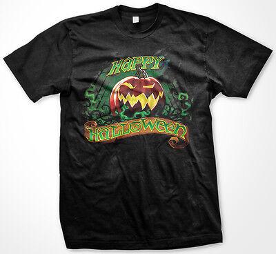 Happy Halloween Trick or Treat Jack O Lantern Pumpkin Candy Scary Men's T-Shirt](Happy Scary Halloween)