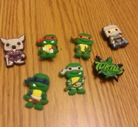 1dff4e6b6dd2 New without tags Tmnt ninja turtles shoe charms decoration for croc jibbitz  bracelets set of 7 Best Offer + Free shipping