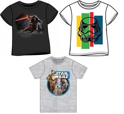 Children's Star Wars T Shirt Top Kylo Ren Stormtroopers 3-11yrs FREE UK P&P