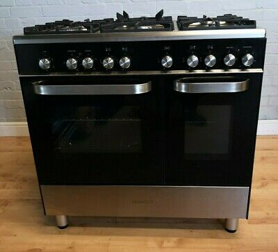 Kenwood CK405 Dual Fuel Range Cooker-Black