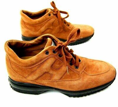 Hogan Interactive Women's Size 7.5 to 8 US Tan Honey Suede Shoes Hidden Heel EUC