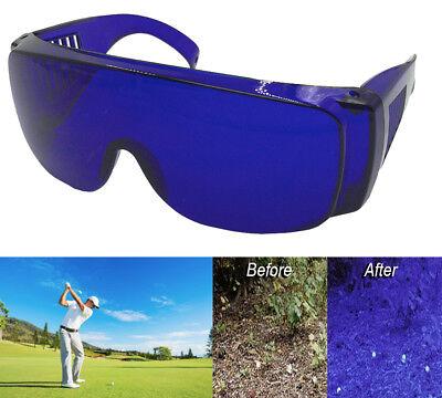 Golf Ball Finder Glasses Cover Over All Blue Lenses Sunglasses Wear Prescription - Golf Ball Sunglasses