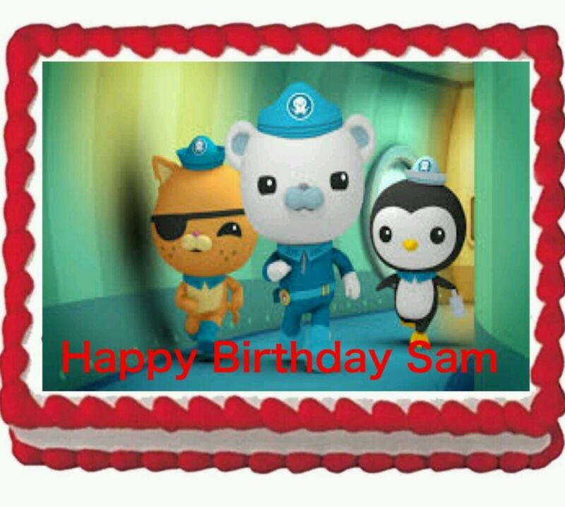 Octonauts Birthday Party Edible Cake Topper 1 4 Frosting Icing Sheet