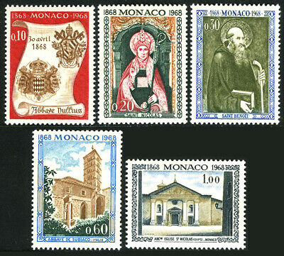 Monaco 684-688,MNH.Elevation Of St.Nicholas Church To An Abbey Nullius,cent.1968 - $1.40
