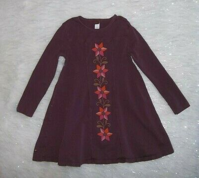 Girls Sz 8 Tea Collection Purple Flower Dress