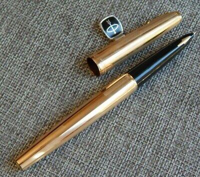 Vintage Parker 61 Fountain Pen kSignet 12k Gold Filled USA #1325